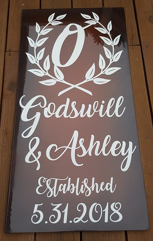 Godswill Ashley wedding sign resize300
